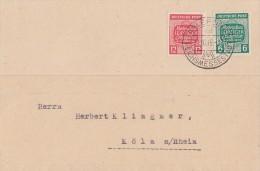 West-Sachsen Karte Mif Minr.124,125 Leipzig 21.10.45 - Sowjetische Zone (SBZ)