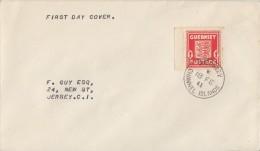 Guernsey Brief EF Minr.2 Guernsey 18.2.41 FDC - Besetzungen 1938-45
