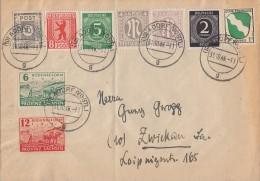Sow. Zone Brief Mif Gel. Von Adorf Nach Zwickau Am 31.10.46 Ansehen !!!!!!!!!!! - Sowjetische Zone (SBZ)