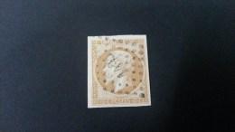 Napoléon III  N° 13A (Variété, Filet De Gauche Aminci/absent) Avec Oblitération Losange 1494  TTB - 1853-1860 Napoleon III