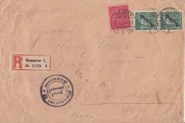 DR R-Brief Dienst Mif Minr.74, 2x 77 Hannover 29.6.23 - Dienstpost