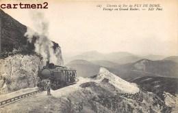 CHEMIN DE FER DU PUY-DE-DOME PASSAGE AU GRAND ROCHER TRAIN TRAMWAY LOCOMOTIVE - France