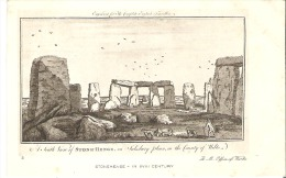 2   Stonehenge In XVIII Ventury  England  The South View Of Stone-Henge - Stonehenge