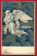 EAN-11 RARE Ange Protecteur, Engel, Angelo, Angel. Précurseur. Cachet 1905 - Angeles