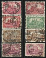 DEUTSCHES REICH 1920 MICHEL A113-115 USED  VALUE 20 EUR - Gebruikt