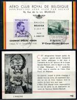 BE   Aérophilatélie  --  1938   ---  Ballon Belgica  --  Coupe G. Bennett  --  Départ Liège - Lâcher Sur Zalau Roumanie - Postmark Collection