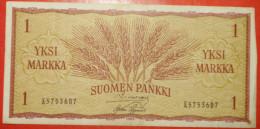 ★ WHEAT EARS★ FINLAND 1 MARKKA 1963! LOW START ★ NO RESERVE! - Finland