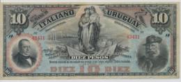 URUGUAY P. S212a 10 P 1887 XF - Uruguay
