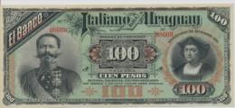 URUGUAY P. S215 100 P 1887 UNC - Uruguay