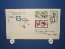 FFC First Flight 219 Brazzaville Congo - Johannesburg Zuid Afrika 1962 - A610e (nr.Cat DVH) - Congo - Brazzaville