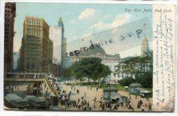 - City Hall Park,  New York, Précurseur, écrite En 1908, Stamps, BE, Scans. - Autres Monuments, édifices