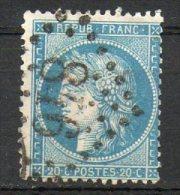 FRANCE - 1870 - Cérès (Siège De Paris - N° 37 - 20 C. Bleu - (Oblitération : Losange Gros Chiffres) - 1870 Besetzung Von Paris