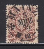 1875 - 1879   MICHEL   Nº  35a  , Rötlichbraun , - Deutschland