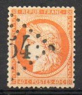 FRANCE - 1870 - Cérès (Siège De Paris - N° 38 - 40 C. Orange - (Oblitération : Losange Gros Chiffres) - 1870 Assedio Di Parigi