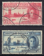 Guyane Britannique N° 174, 175 - Guyana Britannica (...-1966)