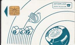 IRAN - Blue Handset, IRAN Telecom Telecard, Used - Iran