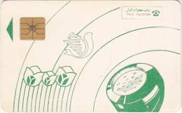 IRAN - Green Handset, IRAN Telecom Telecard, Used - Irán