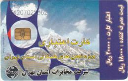 IRAN(chip) - Mountain, Blue Handset, TCT Telecard, Used - Iran