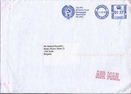 Professional Footballers Association Manchester GB -    Soccer / Football Union Post Cover 2014  To Bulgaria - Brieven En Documenten