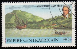 CENTRAL AFRICAN REPUBLIC - Scott #341 James Cook / Used Stamp - Repubblica Centroafricana