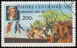 CENTRAL AFRICAN REPUBLIC - Scott #343 James Cook / Used Stamp - Repubblica Centroafricana