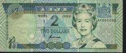 FIJI  $2 BANK NOTE AF660292  USED - Fiji