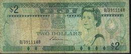 FIJI  $2 BANK NOTE D/3911148  USED - Fiji