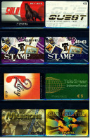8 Verschiedene Prepaid Card Telefonkarten  -  2 X Stamp  -  Telegreen  -  2 X Lycatel  -  Milestone - 2day (7) - Telefonkarten
