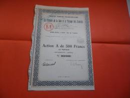 FRANCO BULGARE Pour La  Filature De La Soie  (action A De 500 Francs) 1931 - Actions & Titres