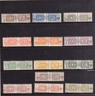 ITALY KINGDOM ITALIA REGNO 1914 - 1922 PACCHI POSTALI NODO DI SAVOIA PARCEL POST SERIE COMPLETA MNH FIRMATA SIGNED - Pacchi Postali