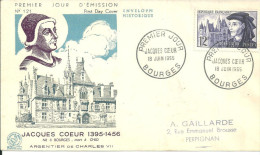 Bourges 18 06 1955 Jacques Coeur - FDC