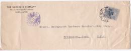 Japan - Advertising Letter Cover The Naraku & Company, Kobe Travelled 1921. To USA - Storia Postale