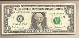 USA - Banconota Circolata Da 1 Dollaro Filadelfia - Pennsylvania P-509a - 2001 - Federal Reserve Notes (1928-...)