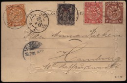 CINA (China): Imperial Postcard With Mixed Franking - Cina