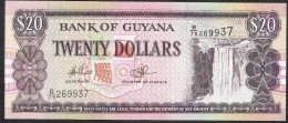 GUYANA   P30f   20  DOLLARS   1996 Signature 14   UNC. - Guyana