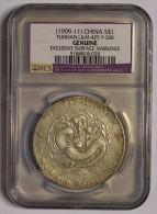 CINA (China): Yunnan (雲南省) - Dollar 1909/11 - NCS Genuine - Cina
