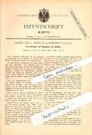 Original Patent - Samuel Fox In Deepcar B. Sheffield , 1884 , Machine For Annealing Wire !!! - Sheffield