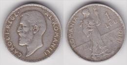 ROUMANIE : 1 LEU 1910 Argent  (voir Scan) - Rumänien