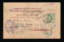 POSTKAART 1901 -  GENT NAAR ST. PETERSBOURG - EN TERUG INCONNU  - RETOUR