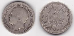 SERBIE : 50 PARA 1879 Argent  (voir Scan) - Serbia