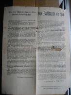 SPA Ao�t 1914 - AUX HABITANTS DE SPA - Nouveaux r�glement ordonn�s par le commandant d'Etape mobile de l'arm�e allemande