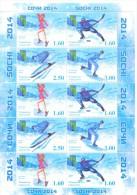 2014. Tajikistan, RCC, Winter Olympic Games Sochi´2014, Sheetlet  Imperforaded, 2 Corners Crumplied,mint/** - Tajikistan