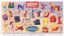 Nestlè - Disney´s - Hercules - Notice Sans Figurine - Disney