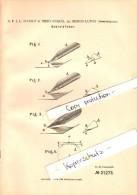 Original Patent - A. Scholz In Mezöszakál Bei Marosludas , 1882 , Schreibfeder , Ludus !!! - Federn