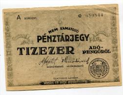 "Hongrie Hungary Ungarn 10.000 AdoPengorol 1946 """" MASRA  AT  NEM  RUHAZHATO """" RARE # 3 - Hungary"