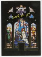 {41066} 88 Vosges Domremy , Basilique Sainte Jeanne D' Arc , Vitrail De La Vierge Jeanne Présente La France à Notre Dame - Domremy La Pucelle