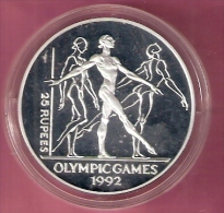 SEYCHELLES 25 RUPEES 1993  OLYMPIC GAMES 1992 SILVER PROOF FREE DANCING - Seychelles