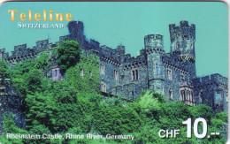 SUISSE PREPAID TELELINE RHEINSTEIN CASTLE CHATEAU RHINE RIVER RHIN 10FCH UT