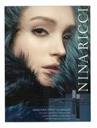 Cartes Parfumées Carte NINA RICCI  Makeup Maquillage Cosmétique Mascara Effet Glamour - Modern (vanaf 1961)