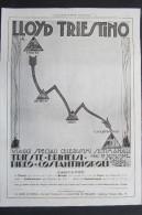 PUBBLICITA´ ADVERTISING LLOYD TRIESTINO CROCIERE VIAGGI TURISMO PIROSCAFI TRIESTE BRINDISI PIREO COSTANTINOPOLI NAVI - Publicités